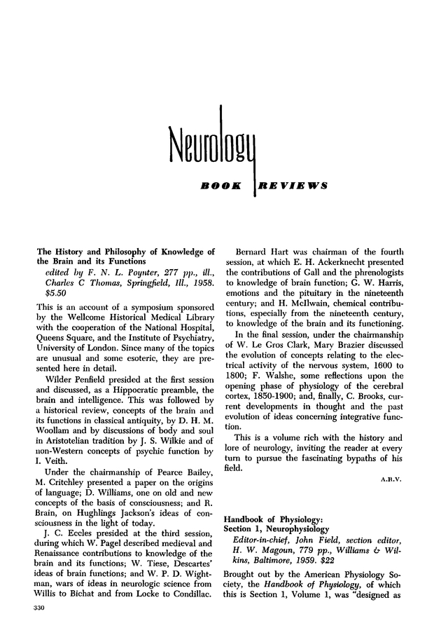 The History and Philosophy of Knowledge of the Brain and its