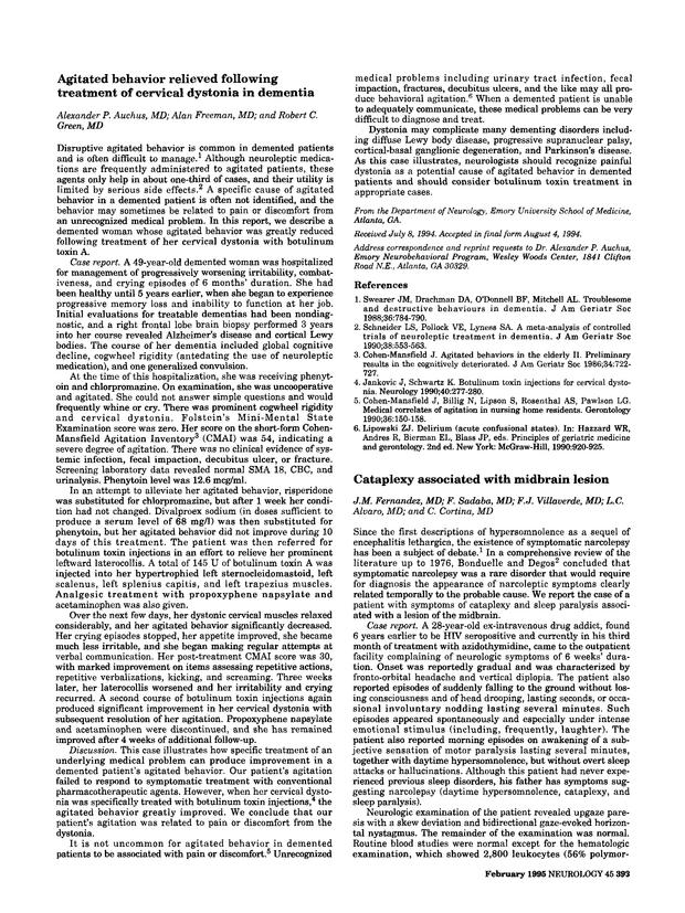 Cataplexy associated with midbrain lesion   Neurology