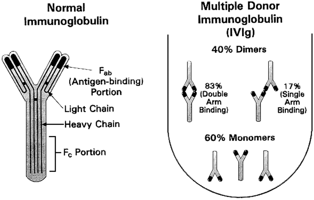 Experience with IVIg in the treatment of patients with