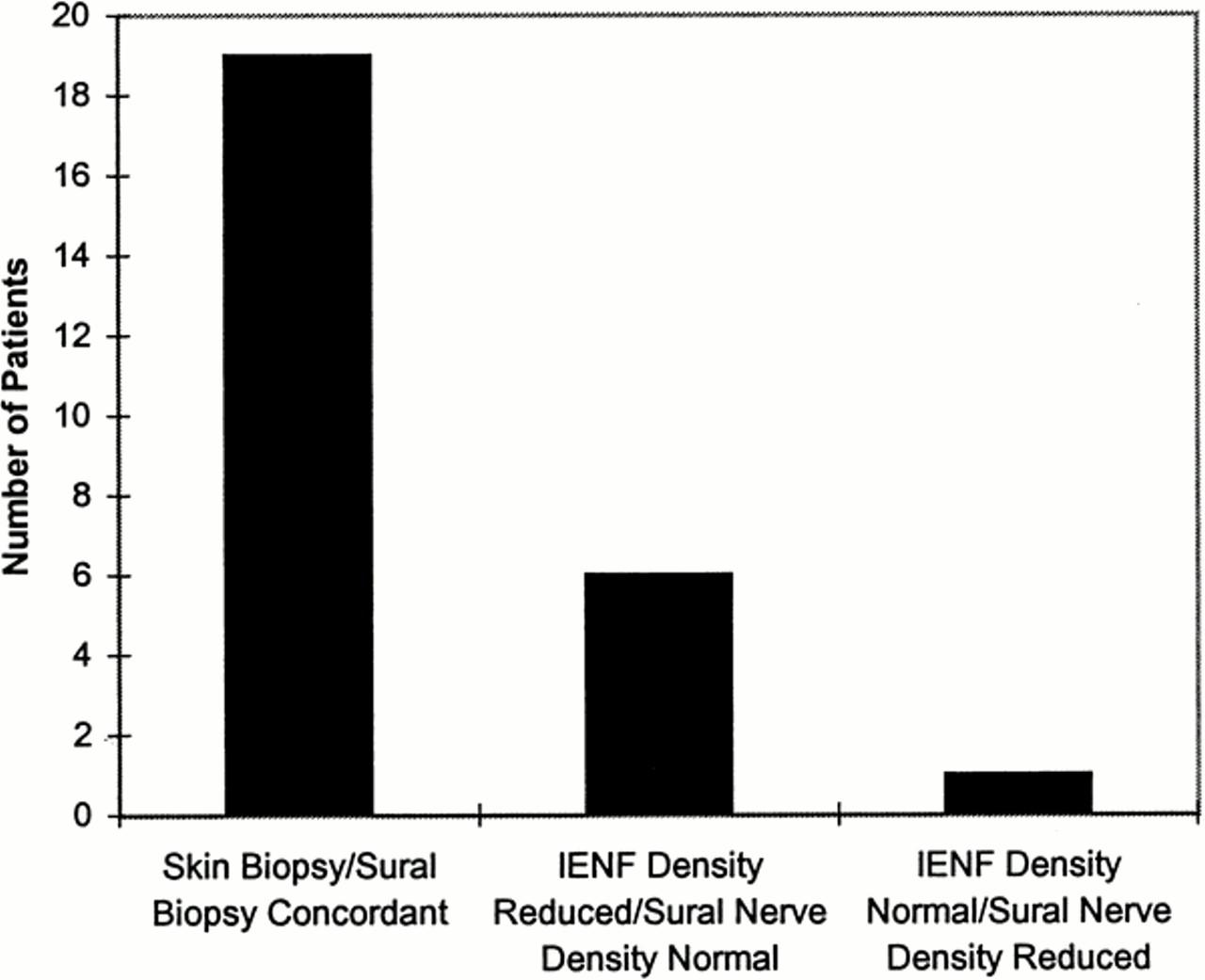 Epidermal nerve fiber density and sural nerve morphometry in