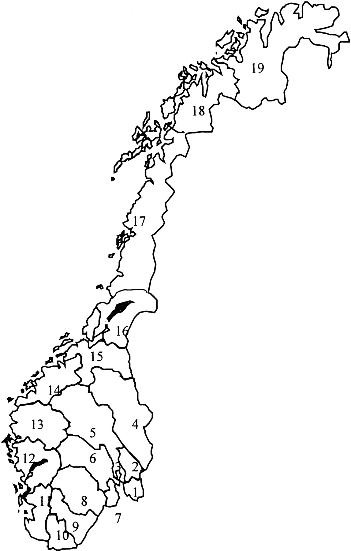 Increasing Mortality From Amyotrophic Lateral Sclerosis In Norway - Norway map drawing
