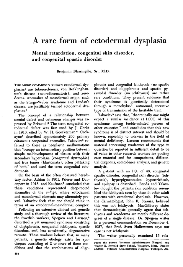 A rare form of ectodermal dysplasia | Neurology
