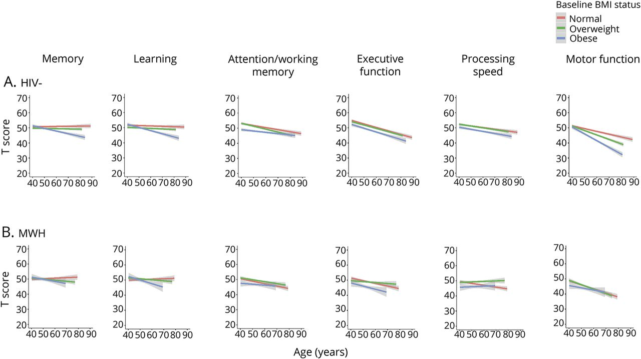Midlife adiposity predicts cognitive decline in the