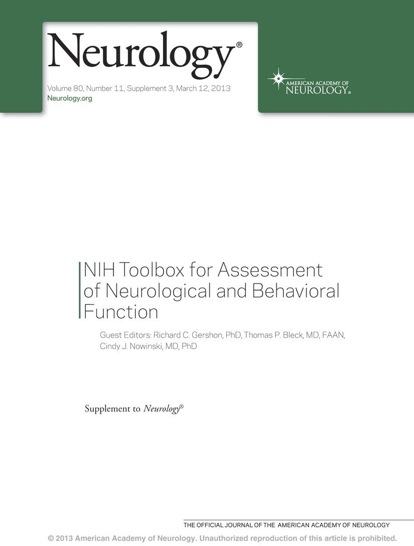 Vestibular function assessment using the NIH Toolbox   Neurology