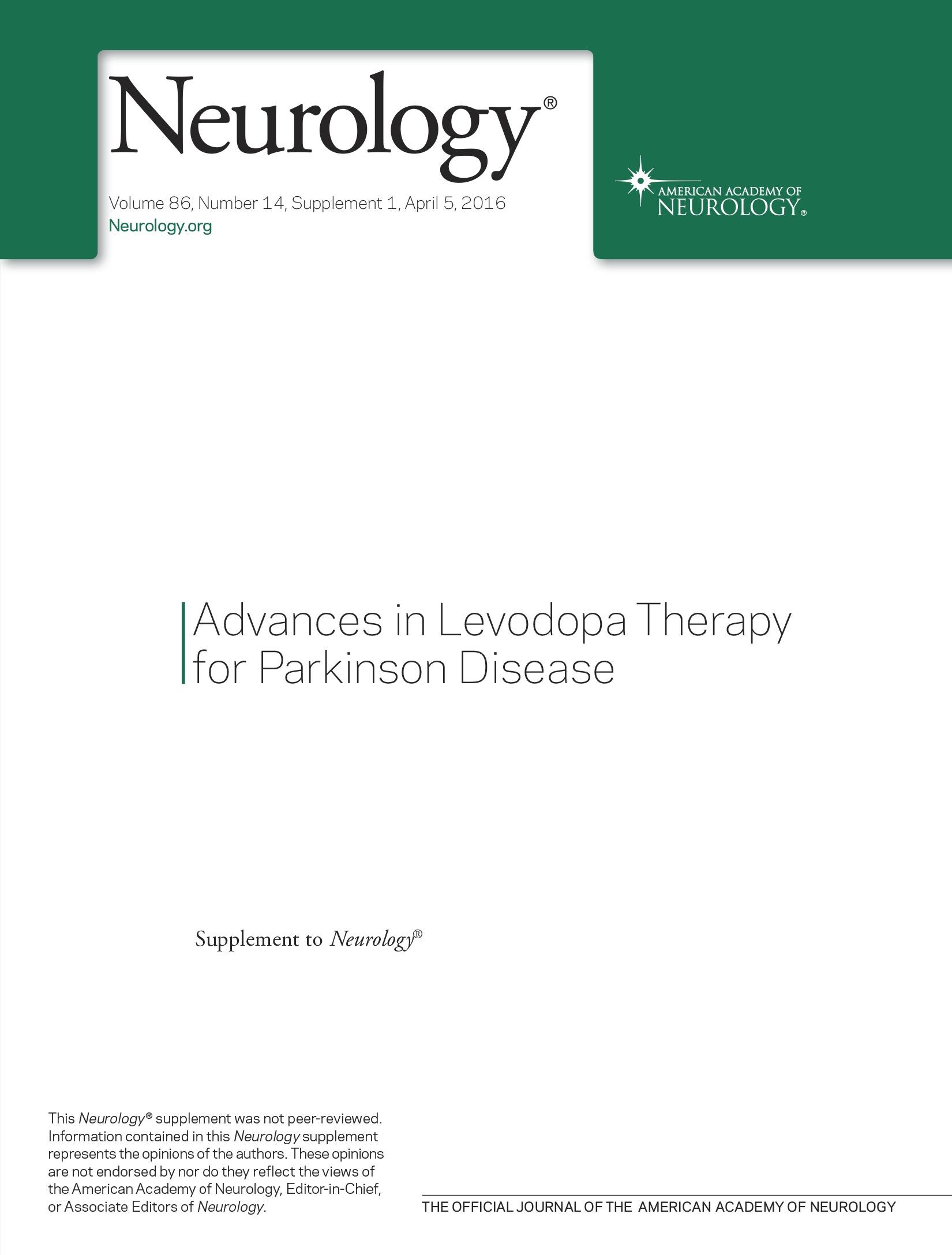 Levodopa therapy for Parkinson disease | Neurology