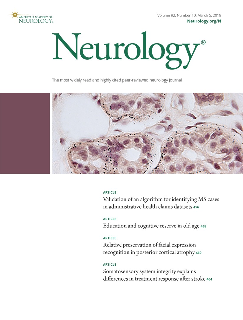 Validation of an algorithm for identifying MS cases in