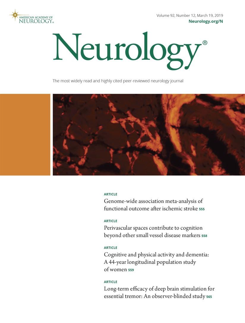 Long-term efficacy of deep brain stimulation for essential
