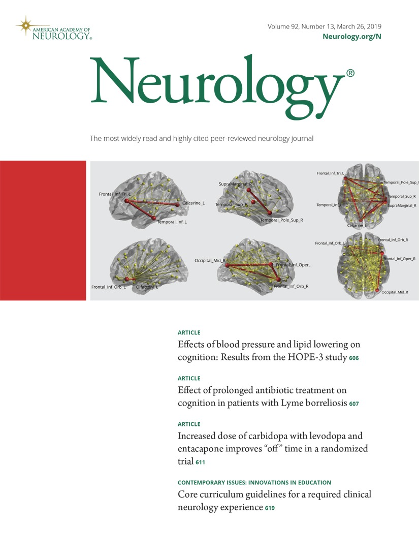 Effect of prolonged antibiotic treatment on cognition in