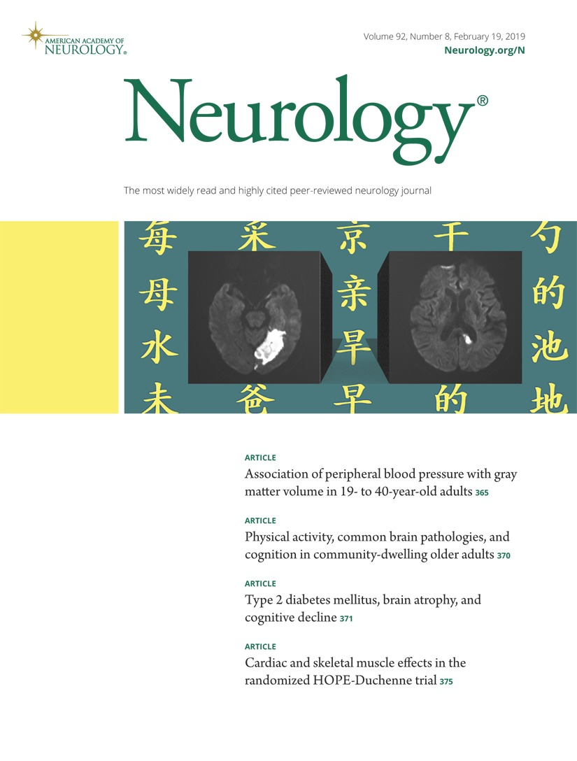 Association of peripheral blood pressure with gray matter volume in