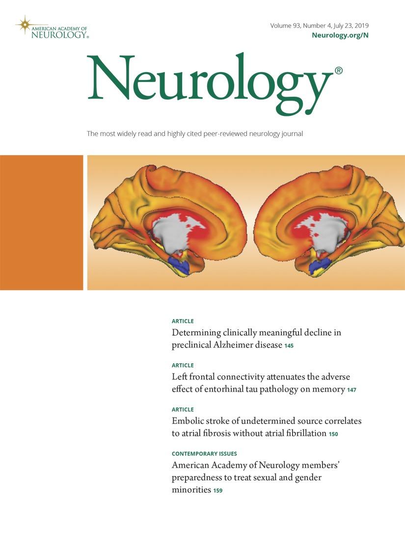 Predictors of clinical or cerebral lesion progression in