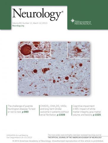 Neurology: 80 (11)
