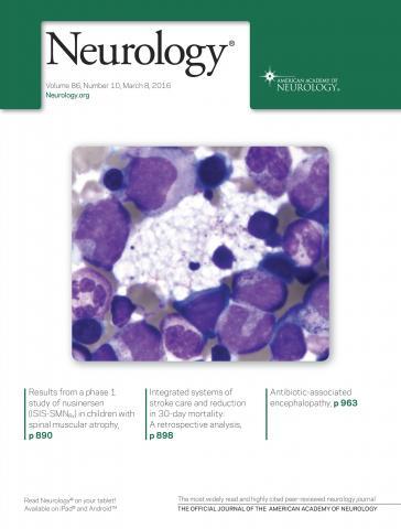 Neurology: 86 (10)